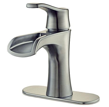 Brushed Nickel Aliante Single Control, Centerset Bath Faucet - F-042-ATKK - 2