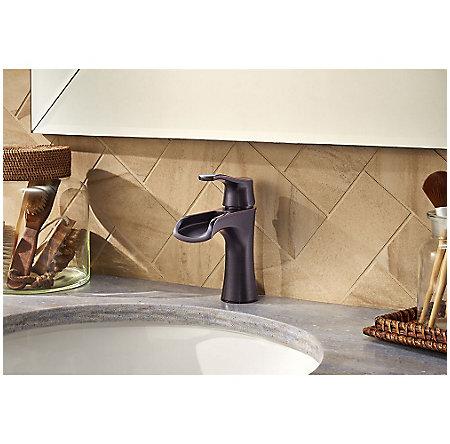 Tuscan Bronze Aliante Single Control, Centerset Bath Faucet - LF-042-ATYY - 3