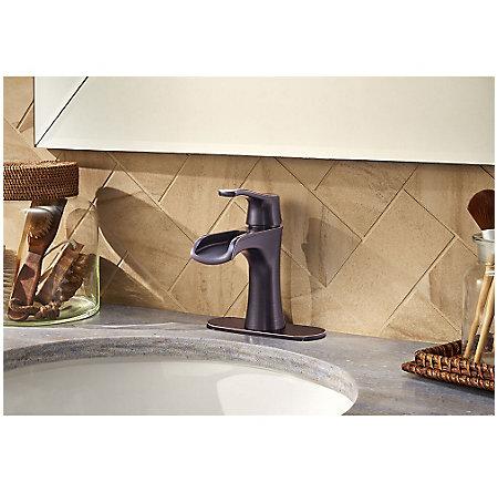 Tuscan Bronze Aliante Single Control, Centerset Bath Faucet - LF-042-ATYY - 4