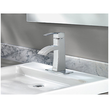 Polished Chrome Bernini Single Control, Centerset Bath Faucet - LF-042-BNCC - 3