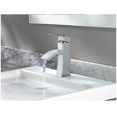 Polished Chrome Bernini Single Control, Centerset Bath Faucet - LF-042-BNCC - 5