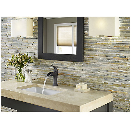 Tuscan Bronze Brea Single Control - Centerset Bath Faucet - F-042-BRYY - 4