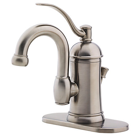 brushed nickel amherst single control, centerset bath faucet - f-042-hak0 - 2