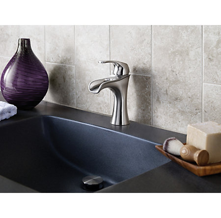 Brushed Nickel Jaida Single Control, Centerset Bath Faucet - LF-042-JDKK - 4