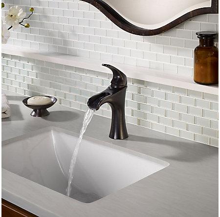 Tuscan Bronze Jaida Single Control, Centerset Bath Faucet - F-042-JDYY - 3