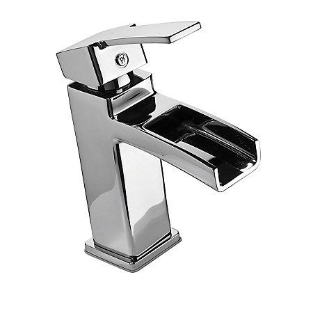 Polished Chrome Kamato Single Control, Centerset Bath Faucet - F-042-MD0C - 1