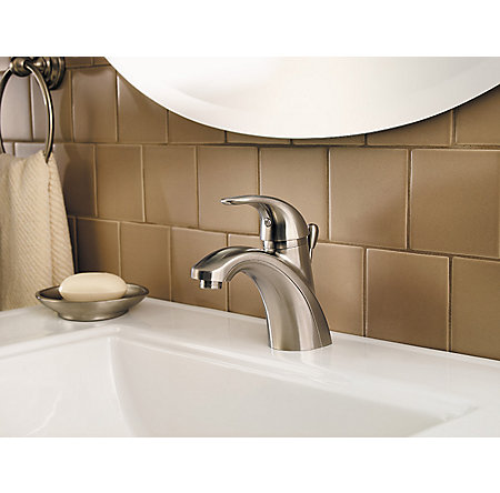 Brushed Nickel Parisa Single Control, Centerset Bath Faucet - LF-042-PRKK - 3