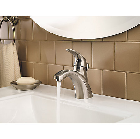 Brushed Nickel Parisa Single Control, Centerset Bath Faucet - LF-042-PRKK - 4