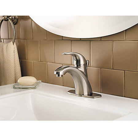 Brushed Nickel Parisa Single Control, Centerset Bath Faucet - LF-042-PRKK - 5
