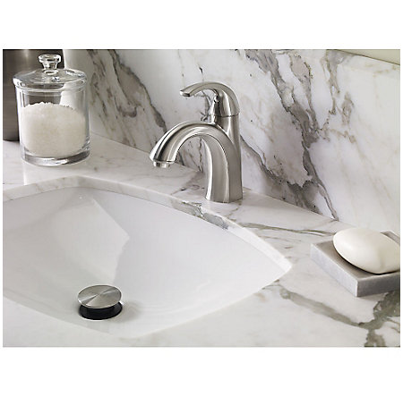 Brushed Nickel Selia Single Control, Centerset Bath Faucet - F-042-SLKK - 3