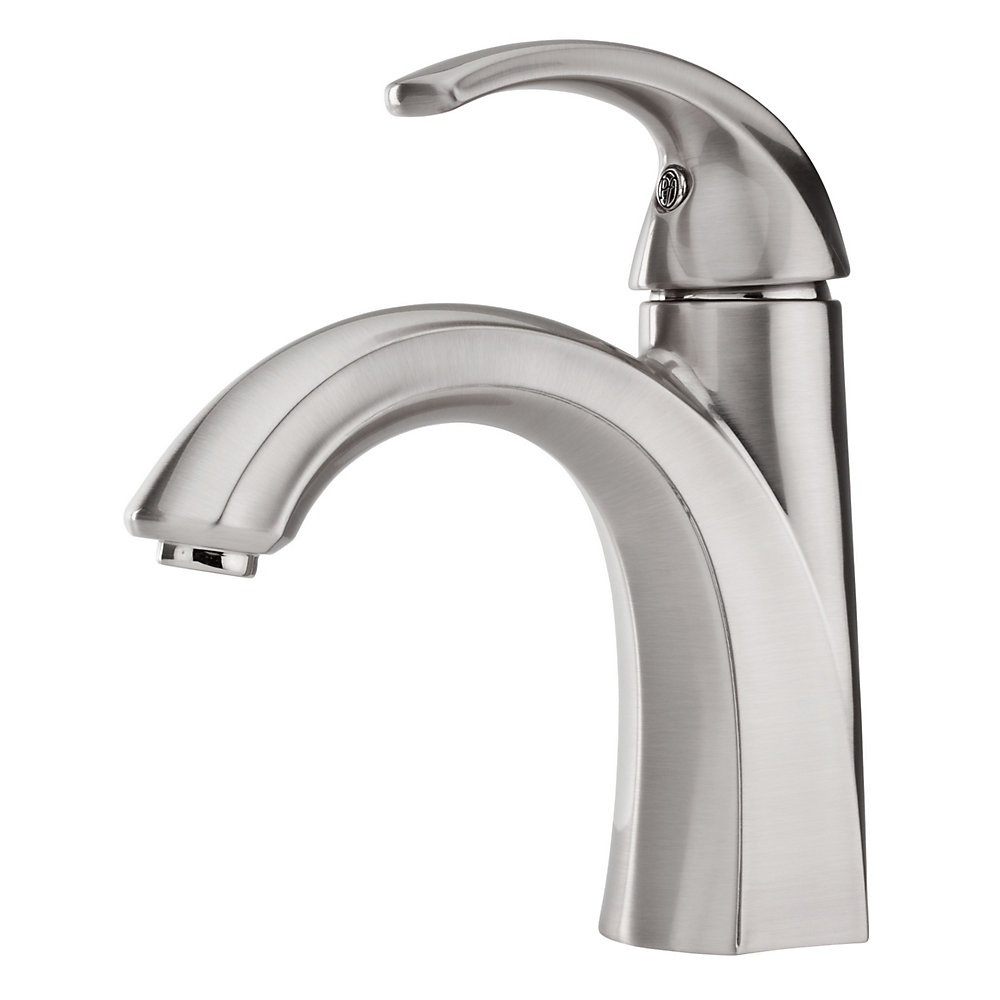 brushed nickel selia single control  centerset bath faucet   lf 042 slkk. Selia Bathroom Faucet Collection   Pfister Faucets