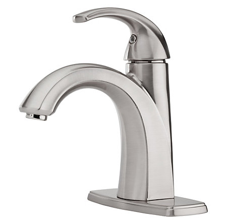Brushed Nickel Selia Single Control, Centerset Bath Faucet - LF-042-SLKK - 2