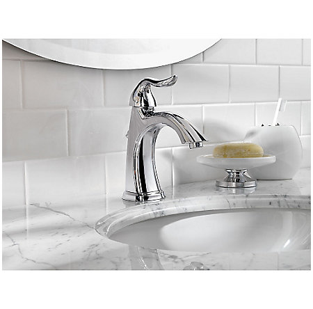 polished chrome santiago single control, centerset bath faucet - f-042-st0c - 3