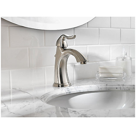 Brushed Nickel Santiago Single Control, Centerset Bath Faucet - LF-042-ST0K - 3