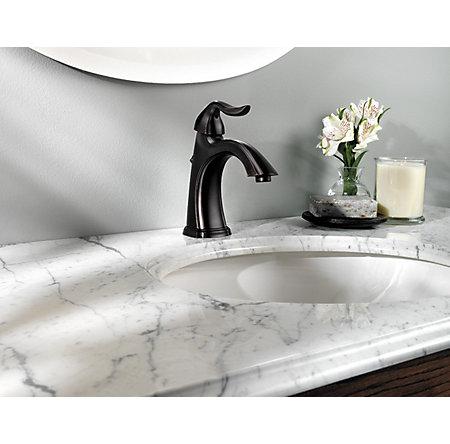 Tuscan Bronze Santiago Single Control, Centerset Bath Faucet - F-M42-STYY - 3