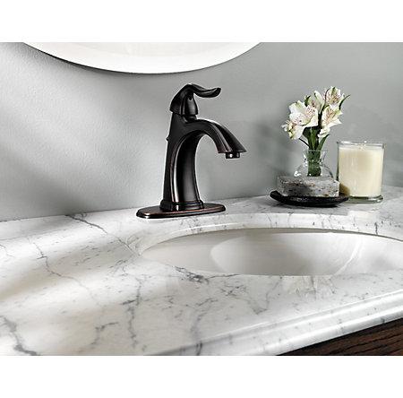Tuscan Bronze Santiago Single Control, Centerset Bath Faucet - F-M42-STYY - 4