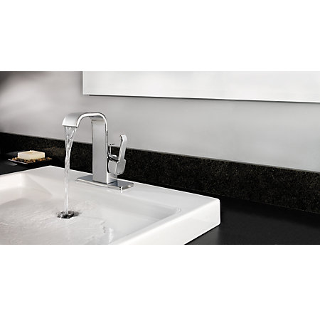 Polished Chrome Skye Single Control, Centerset Bath Faucet - F-042-SYCC - 2