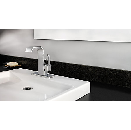 Polished Chrome Skye Single Control, Centerset Bath Faucet - F-042-SYCC - 3