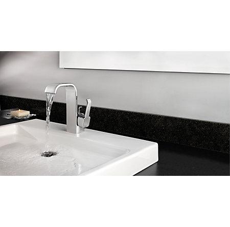 Polished Chrome Skye Single Control, Centerset Bath Faucet - F-042-SYCC - 4