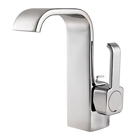 Polished Chrome Skye Single Control, Centerset Bath Faucet - F-042-SYCC - 1