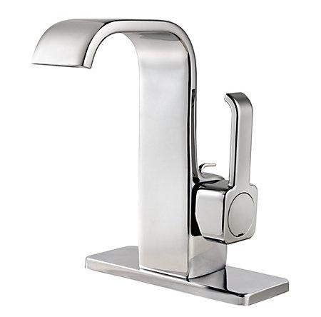 "Polished Chrome Skye Single Control 4"" Centerset Bath Faucet - LF-042-SYCC - 2"