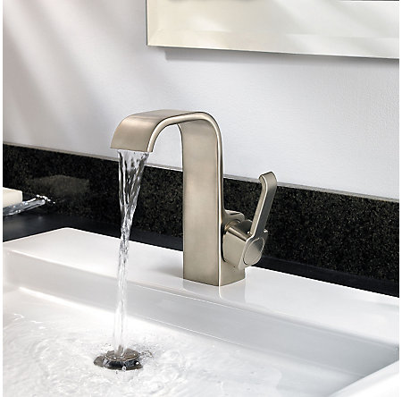 Brushed Nickel Skye Single Control, Centerset Bath Faucet - F-042-SYKK - 3