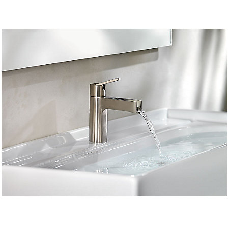 Brushed Nickel Vega Single Control, Centerset Bath Faucet - F-042-VGKK - 3