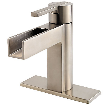 Brushed Nickel Vega Single Control, Centerset Bath Faucet - LF-042-VGKK - 2