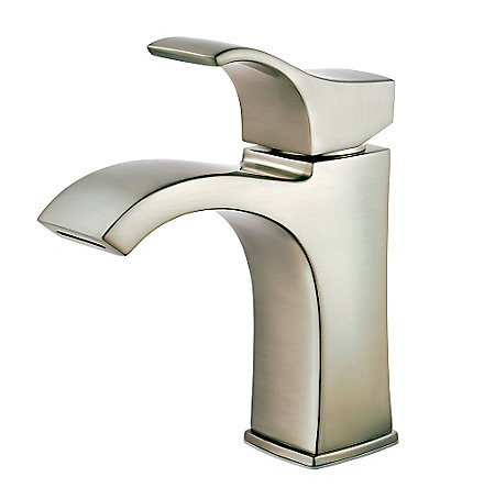 Brushed Nickel Venturi Single Control, Centerset Bath Faucet - LF-042-VNKK - 1
