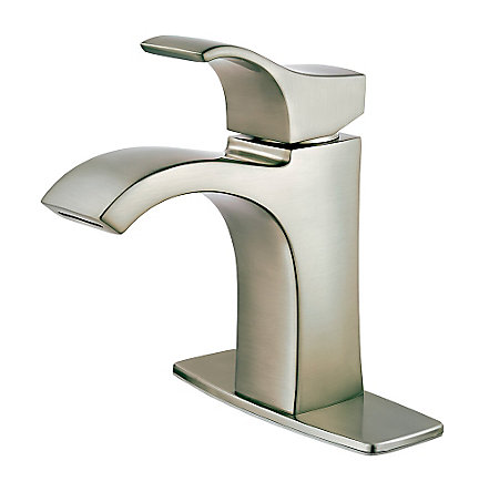 Brushed Nickel Venturi Single Control, Centerset Bath Faucet - LF-042-VNKK - 2