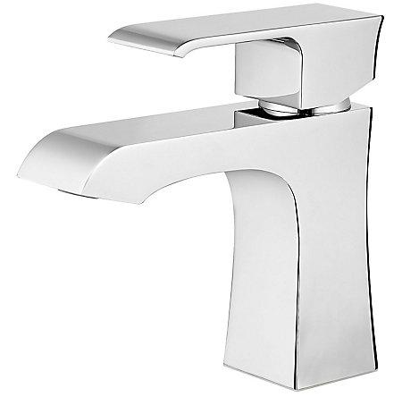 Polished Chrome Vorena Single Control, Centerset Bath Faucet - F-042-VOCC - 1