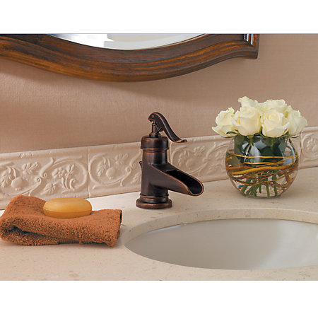 Rustic Bronze Ashfield Single Control, Centerset Bath Faucet - LF-042-YP0U - 3