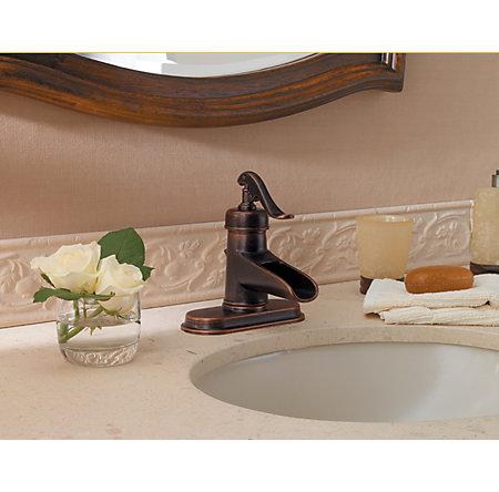 Rustic Bronze Ashfield Single Control, Centerset Bath Faucet - LF-042-YP0U - 4