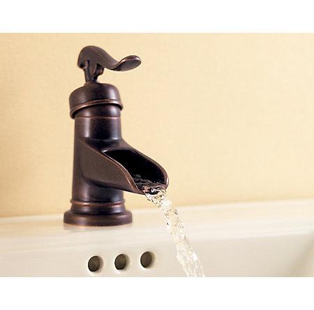 Rustic Bronze Ashfield Single Control, Centerset Bath Faucet - LF-042-YP0U - 5