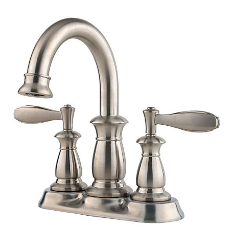 Brushed Nickel Langston Centerset Bath Faucet - F-043-LNKK - 1