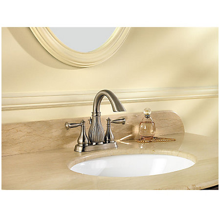 Brushed Nickel Virtue Centerset Bath Faucet - F-043-VTKK - 2