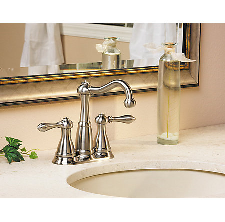 Brushed Nickel Marielle Mini-Widespread Bath Faucet - LF-046-M0BK - 3