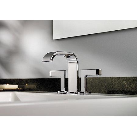 Polished Chrome Skye Centerset Bath Faucet - F-046-SYCC - 4