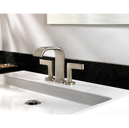 Brushed Nickel Skye Centerset Bath Faucet - F-046-SYKK - 3