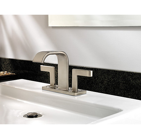 Brushed Nickel Skye Centerset Bath Faucet - F-046-SYKK - 4