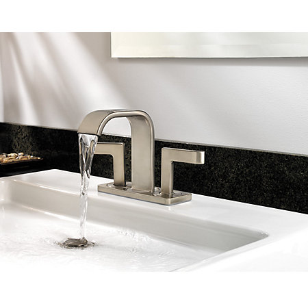Brushed Nickel Skye Centerset Bath Faucet - F-046-SYKK - 5