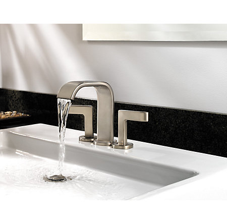 Brushed Nickel Skye Centerset Bath Faucet - F-046-SYKK - 6