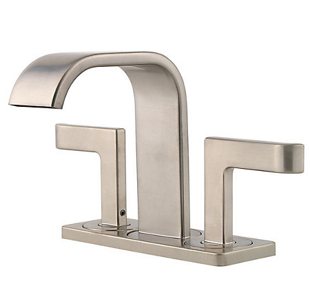 Brushed Nickel Skye Centerset Bath Faucet - F-046-SYKK - 2