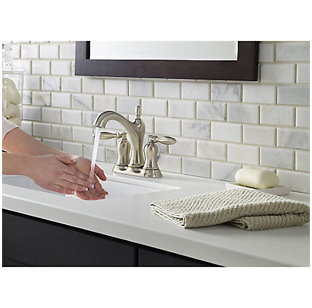 Brushed Nickel Arlington Centerset Bath Faucet - LF-048-ARKK - 3