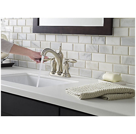 Brushed Nickel Arlington Centerset Bath Faucet - LF-048-ARKK - 4