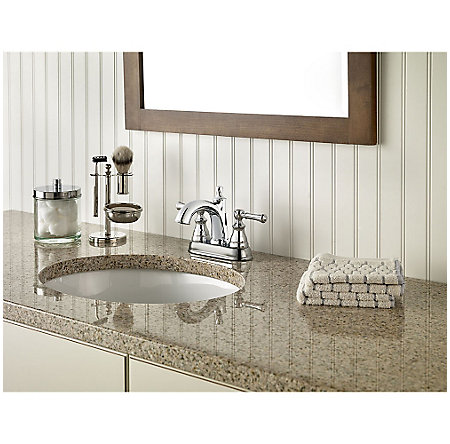 Polished Chrome Autry Centerset Bath Faucet - LF-048-AUCC - 2