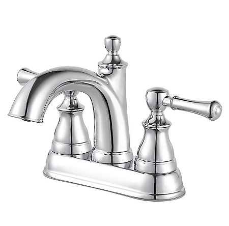 Polished Chrome Autry Centerset Bath Faucet - LF-048-AUCC - 1
