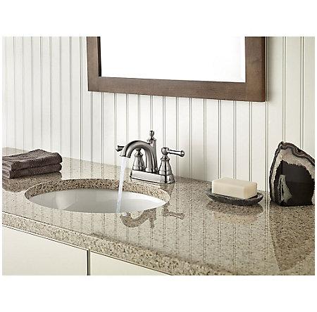 Brushed Nickel Autry Centerset Bath Faucet - LF-048-AUKK - 3