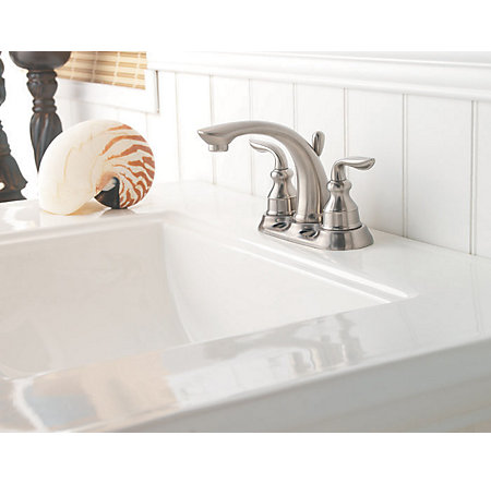 Brushed Nickel Avalon Centerset Bath Faucet - F-048-CB0K - 3