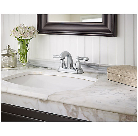 Polished Chrome Canton Centerset Bath Faucet - LF-048-CNCC - 2